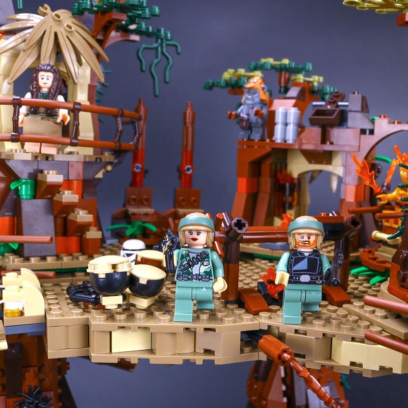 05047 Star plan serii Ewok Village Juguete Para Construir klocki klocki zabawki kompatybilne z 10236 prezenty w Klocki od Zabawki i hobby na  Grupa 2