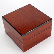 Orange Wood Box For Watches