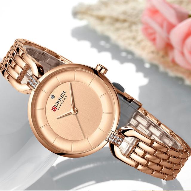 Curren Women Watches Luxury Brand Charms Small Dial Ladies Wrist Watches Rose Gold Wristwatches Women Relogio Feminino 2019