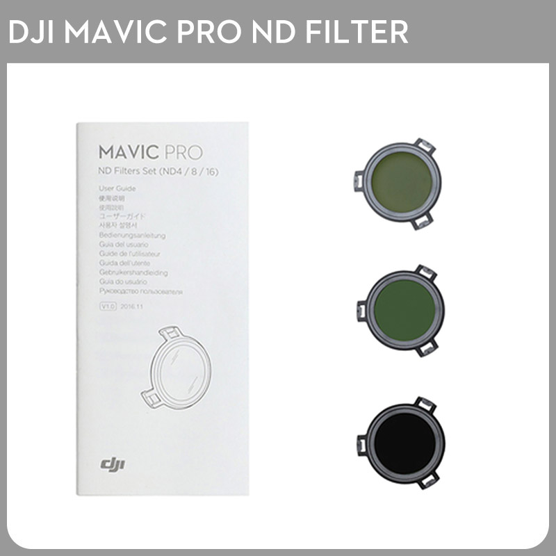 DJI Mavic Pro ND Filters Set (ND4/8/16) for Mavic Pro Camera Drone Filter 3PCS Filter original dji mavic air nd filters set nd4 8 16 for mavic air camera drone filter 3pcs filter dji mavic air accessories