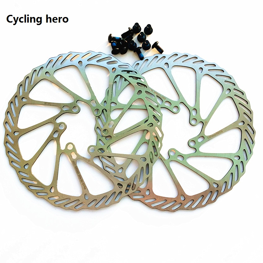 цена на Mountain Bike Disc Brake 2PCS High Quality Bicycle Brake Disc 160MM 180MM Mountain Bike Brake Rotor G3 BB5 BB7 Cycling hero