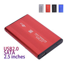 "2,5 ""HD BOX cartucho de disco duro aleación de aluminio HDD funda dura USB2.0 a SATA para Windows XP Vista Win7 win8 Win10 OS Dropshipping. Exclusivo.(China)"
