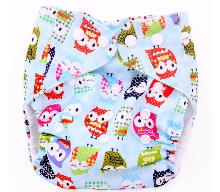 Cute Cartoon Bird Unisex Baby Washable Breathable Diaper Training Pant Toddler Nappies 0-3 Years 3-15kg One Size