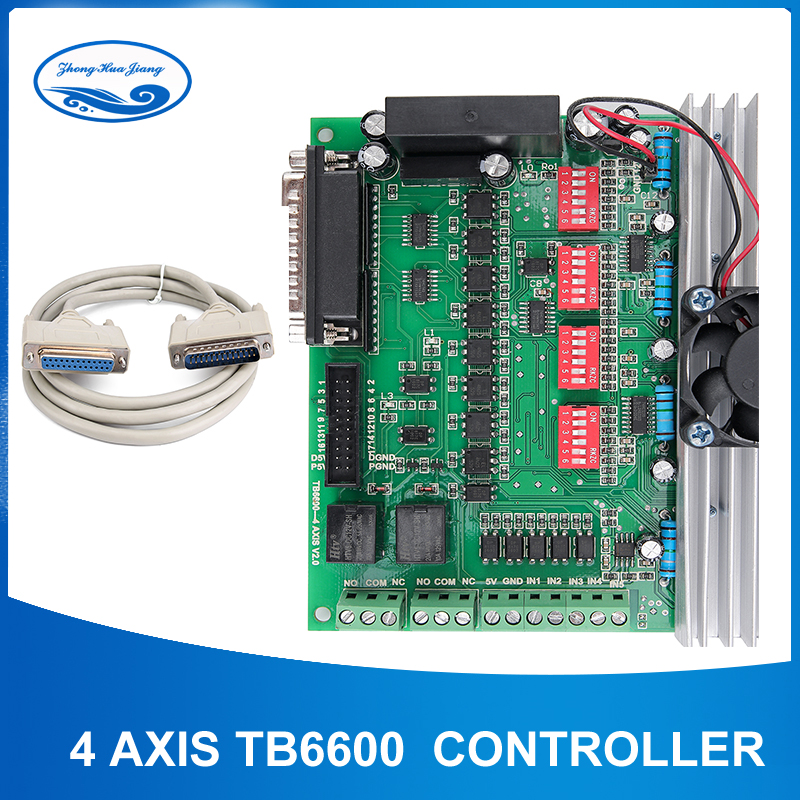 TB6600 4 axis cnc controller 4 axis stepper motor driver DSP controlled Replaced by TB6560 for
