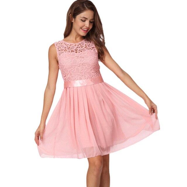 Kleid mit chiffon und spitze - Modische Damenkleider