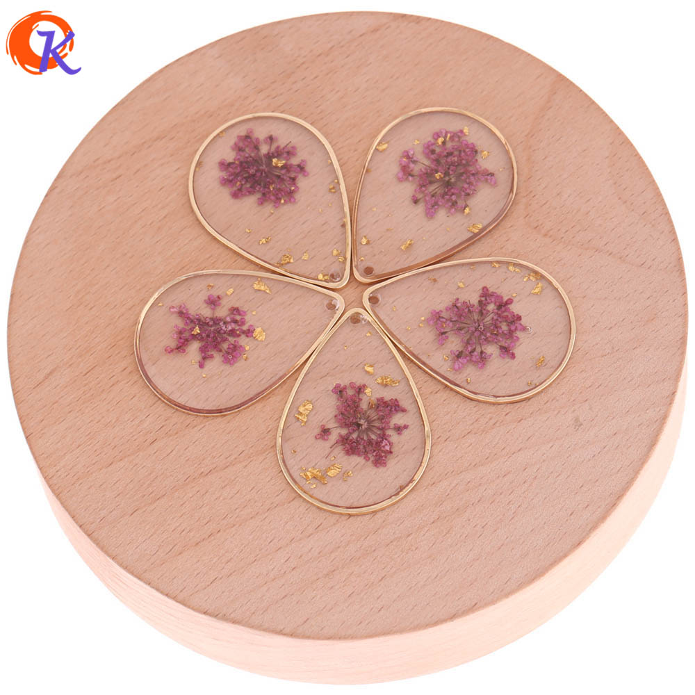 Cordial Design 20Pcs/Lot Earring Findings/Dried Flowers In Copper Material Drop Ring/Hand Made Pendant/Jewelry Accessories