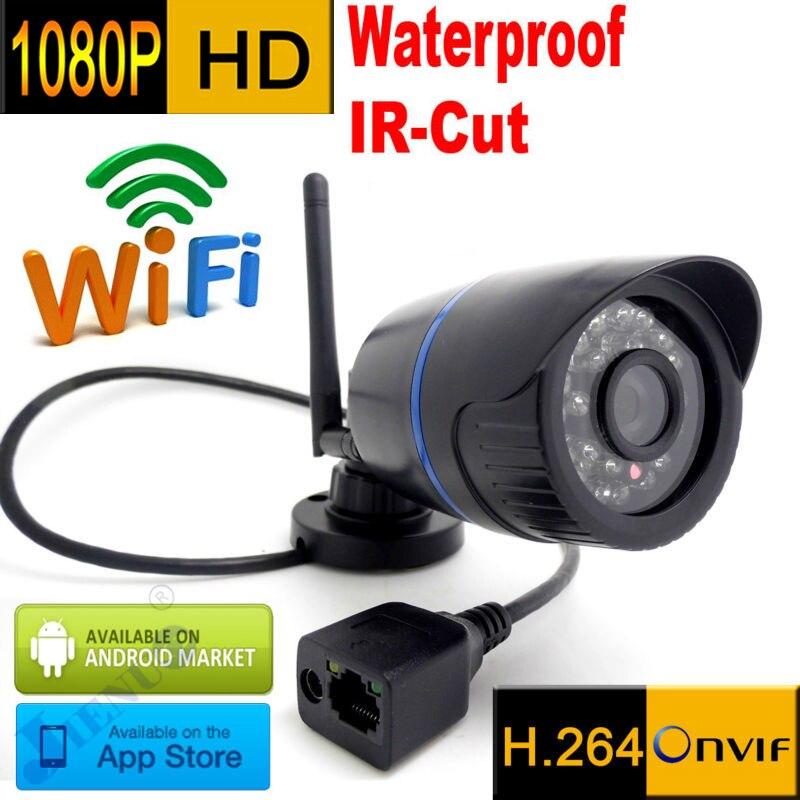 bilder für Ip-kamera 1080 p wifi cctv-sicherheitssystem wasserdichte drahtlose wetterfeste infrarot mini Onvif H.264 IR Nachtsicht Cam