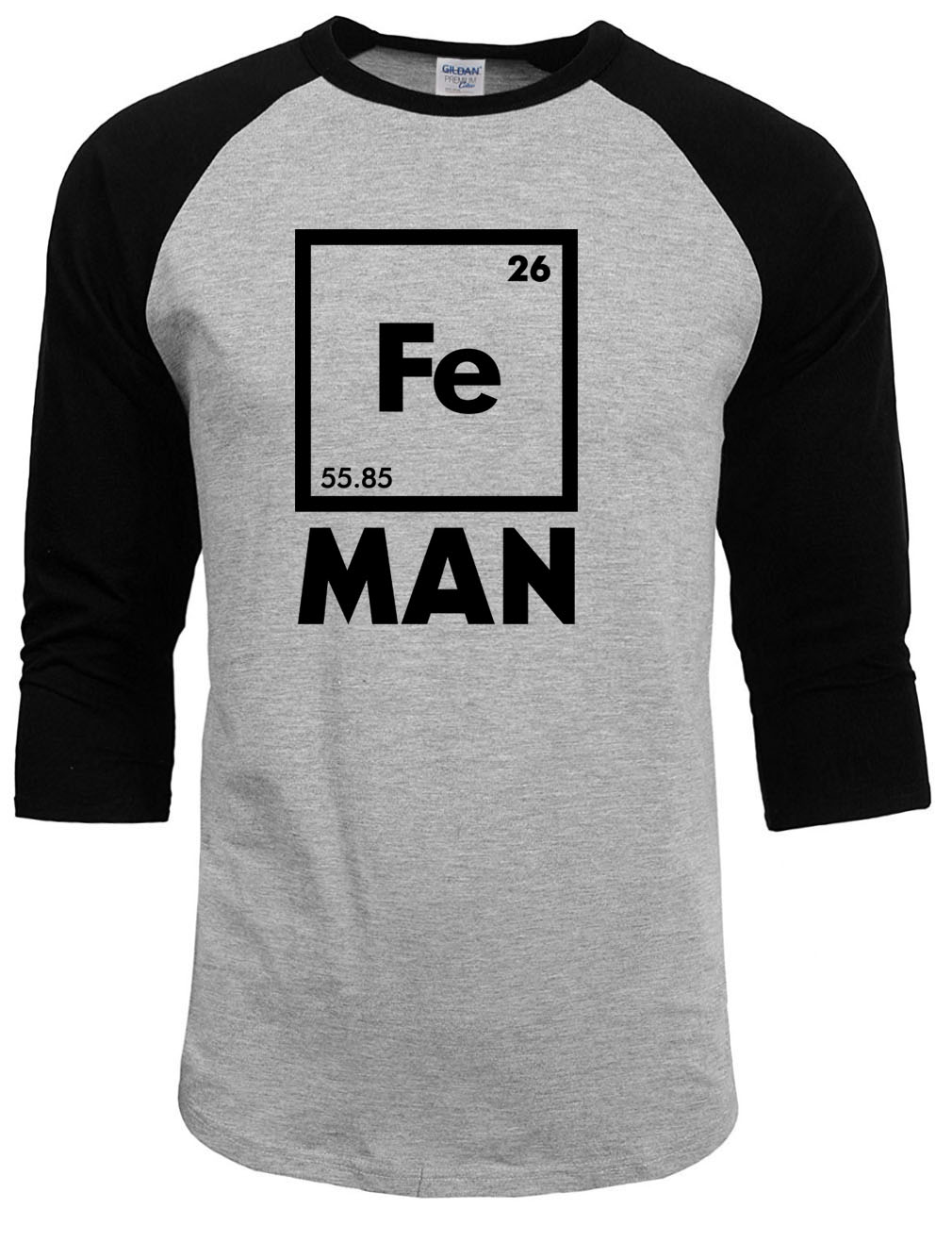 2017 summer autumn brand clothing raglan sleeve font b Chemistry b font Shirt Fe Periodic Table