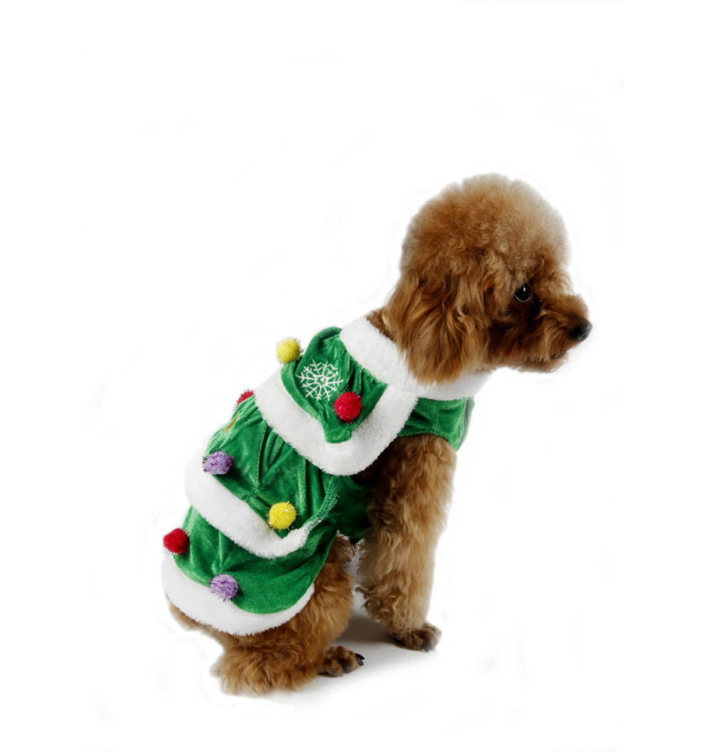 pet dog christmas clothes pet warm winter clothing puppy large dogs cat christmas tree apparel dress coat wear free shipping in dog dresses from home - Large Dog Christmas Outfits