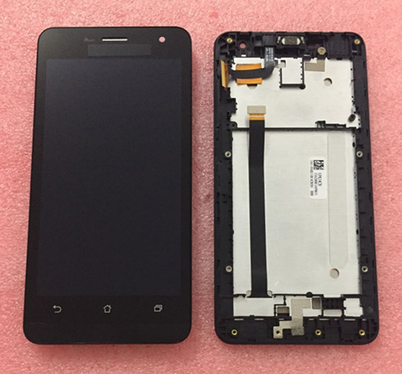L100% Tested LCD Screen display+touch Digitizer with frame For Asus Zenfone 5 Lite A502CG black color free shipping