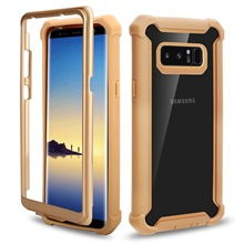 CYATO Shockproof Case Clear Back For Samsung Galaxy S10 S10Plus S10Lite S9 S8 360 Protective Cover Candy Metal Button Hard Capa