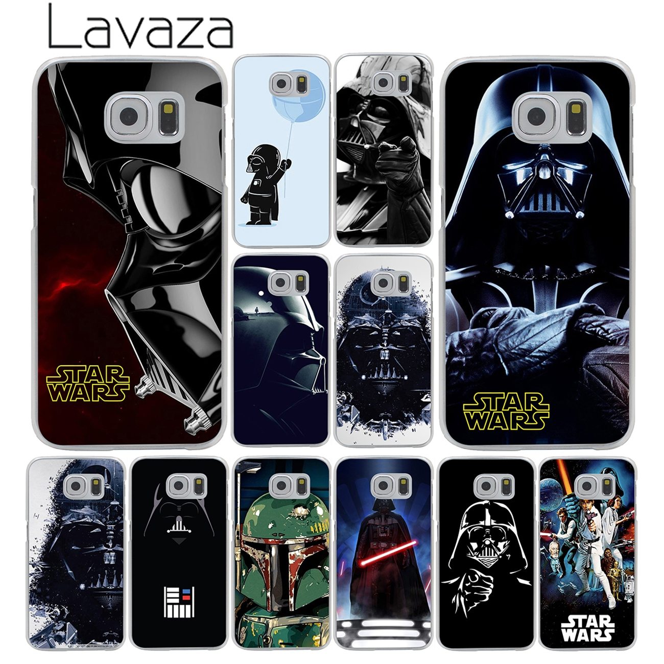 Lavaza Darth vader Star wars Child in the brain Hard Transparent Phone Case for Samsung Galaxy S8 S9 Plus S3 S4 S5 S6 S7 Edge