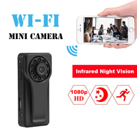 d5026989c A6 Mini HD 1080P Wireless WIFI IP Camera Police Body Motorcycle Bike SMS  Alarm Infrared Light