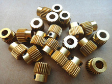 With Tracking Number 100PCS LOT 3D printer Accessories 26 Tooth Gear Inner Diameter 5MM For Makerbot