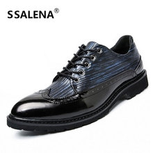 Brogue Dress Shoes For Men Classic England Style Oxford Wedding Shoes Male Pointed Toe Formal Flats Oxford Shoes AA10038