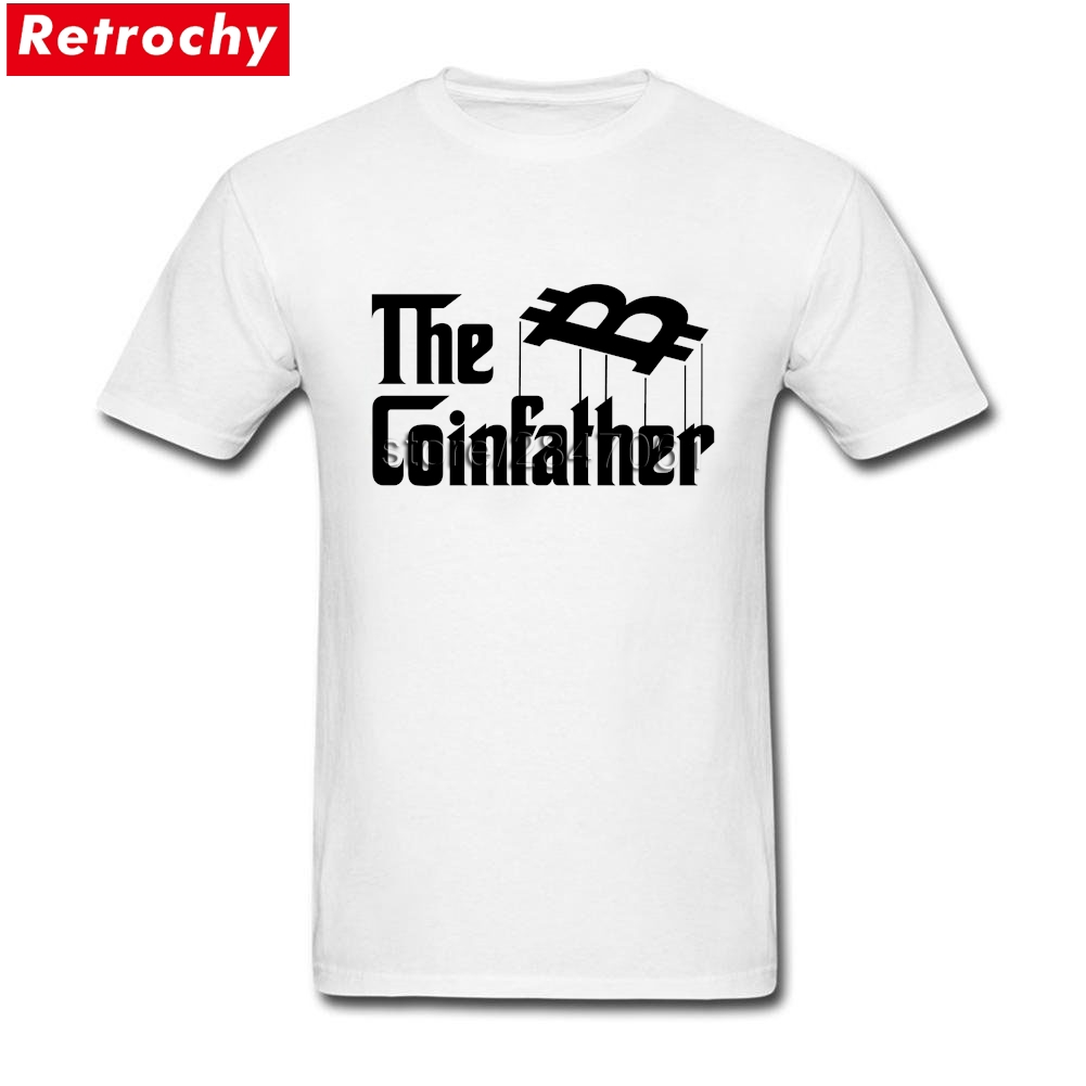Custom Tees Shirt The Coin Father Bitcoin Short Sleeved Round Neck 100% Cotton T Shirts Homme Fathers Day Presents