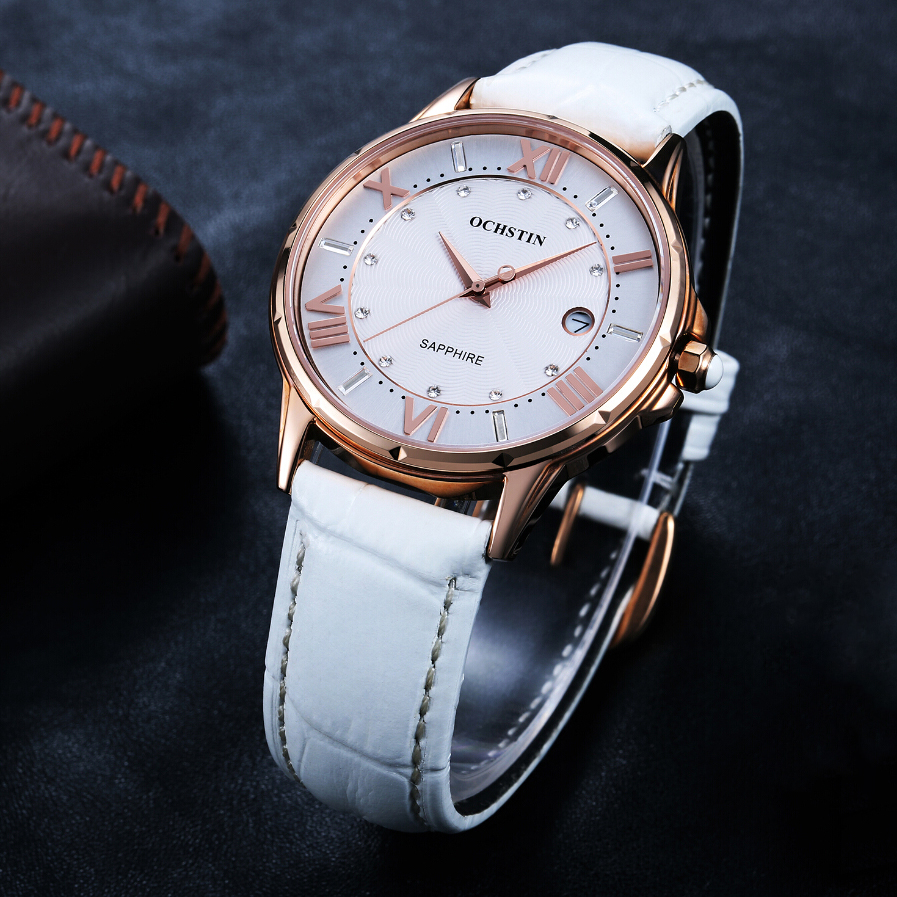 Image 2 - OCHSTIN New Fashion Women Watches Luxury Diamond Leather Calendar Waterproof Quartz Watch Relojes Mujer 2019 Marca De Lujo Clock-in Women's Watches from Watches