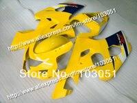 Carrocerías para SUZUKI GSXR 2004 600 carenado K4 2005 GSXR 750 carenados 04 05 brillante negro amarillo DB82