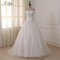 ADLN Wedding Dresses Vestidos De Novia Off The Shoulder Sweetheart Tulle Long Bride Dress Lace Up