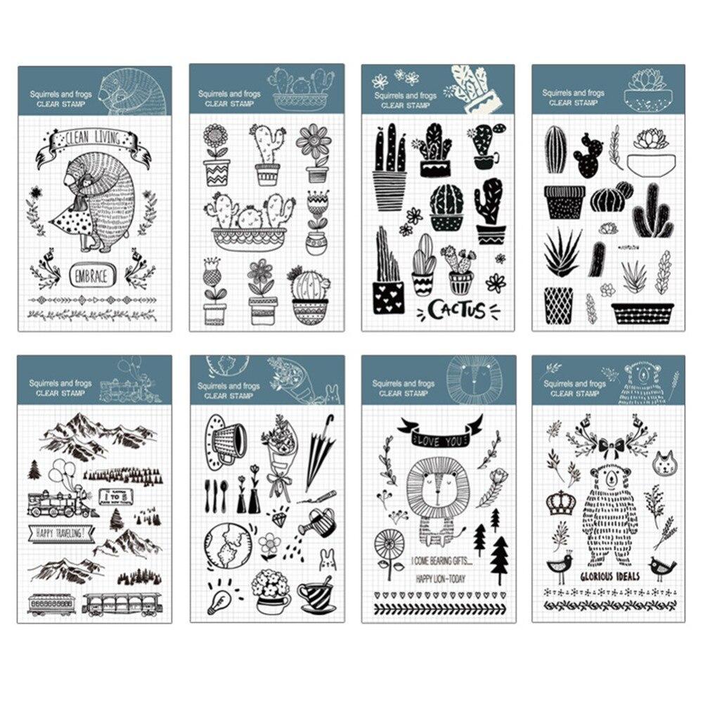 Cactus Series Pattern Transparent Rubber Stamp DIY Scrapbooking Decor Art Personalized Motto 266538