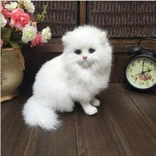 WYZHY  Leather hair pure hand-simulated Persian cat high-end gift jewelry crafts film props 16CMx12CMx18CM