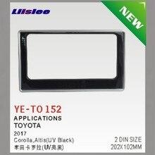 Liislee для Тойота венчик Альтис автомобиля переоборудование DVD gps NAV рамка CD панель тире комплект Радио Рамка аудио фасции