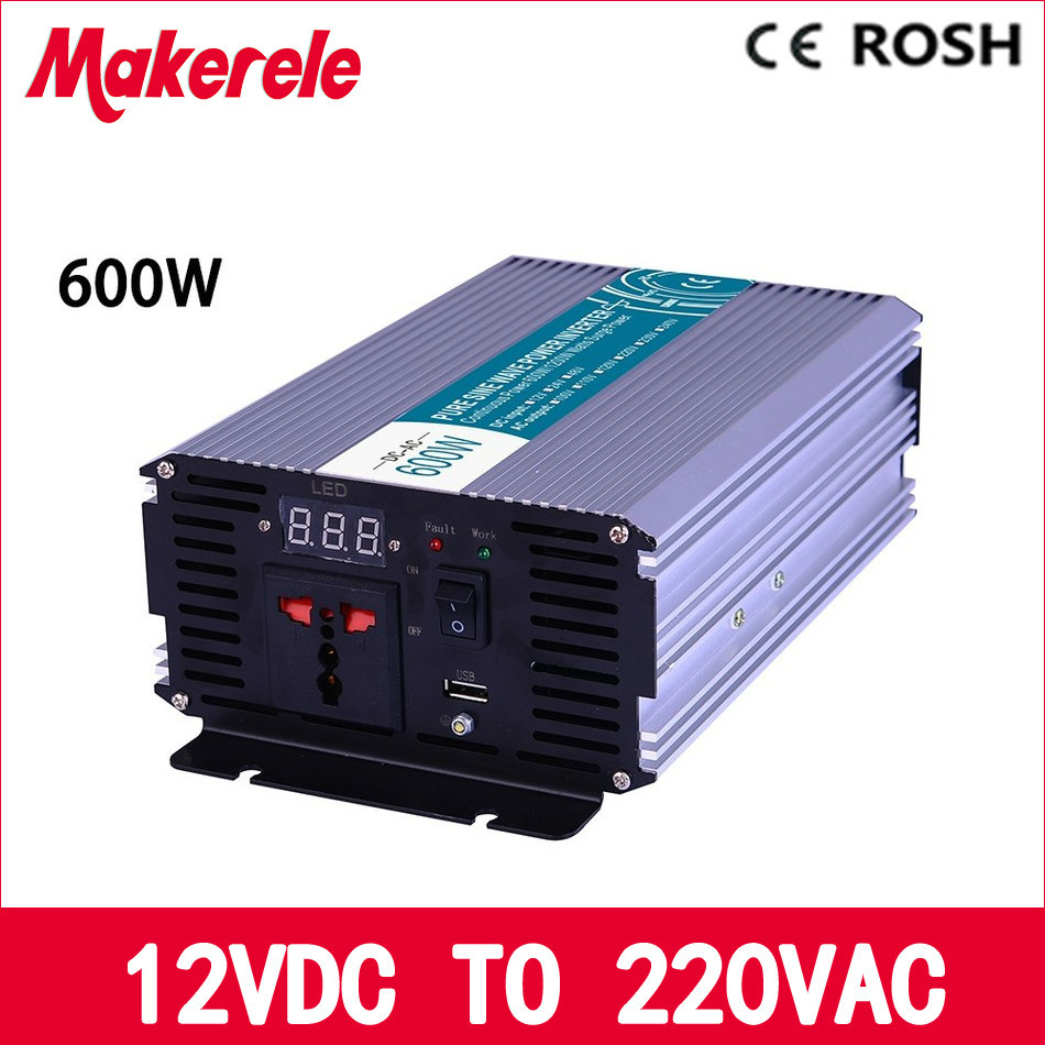 MKP600-122 600w off grid inverter pure sine wave 12vdc to 220vac voltage converter,solar inverter 1000w 12vdc to 220vac off grid pure sine wave inverter for home appliances