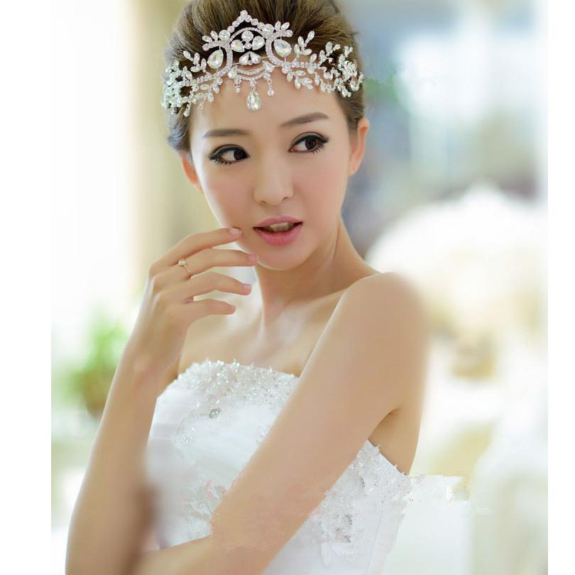 Girls Big Headband Bridal Wedding Head Wear Tiara Hair Band Bubble Pro