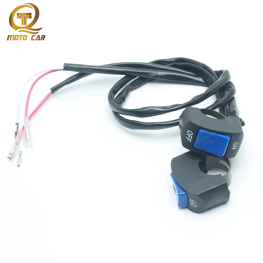 1pair Universal Motorcycle Switch 12V Headlight Lamp Waterproof Button Handgrip ON/OFF Switch Electrical System Motorbike Parts
