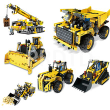 MOULD KING Engineering Crane Remote Control RC Car Truck Crawler Building Blocks Legoing City Technic RC Toys Children Bricks(China)