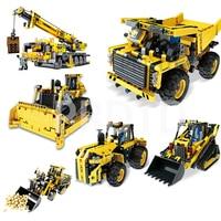 MOULD KING Engineering Crane Remote Control RC Car Truck Crawler Building Blocks Legoed City Technic RC Toys Children Bricks