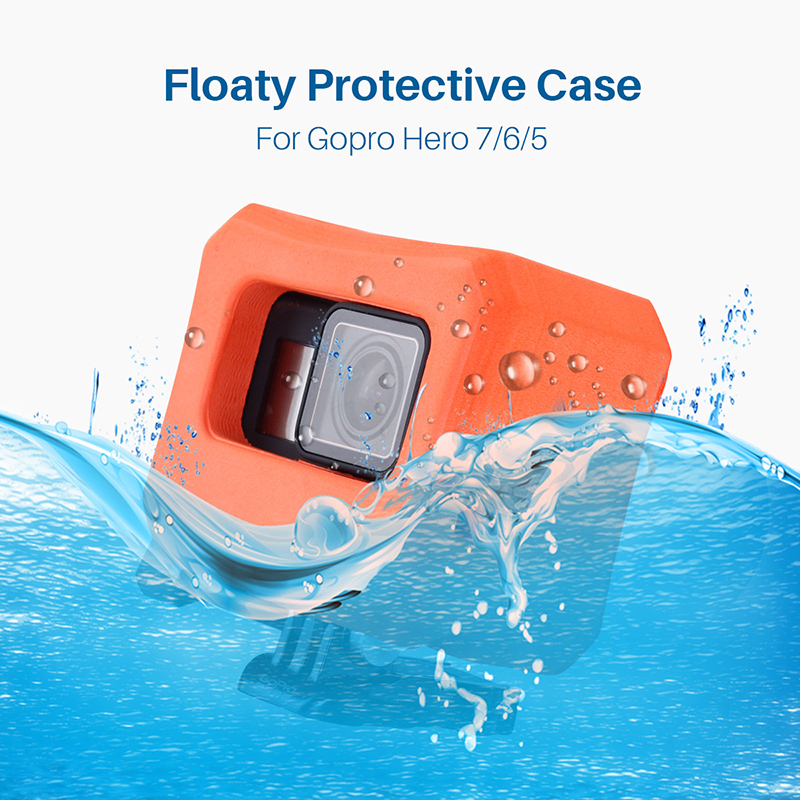 Waterproof Case Cover Floaty for Black Gopro Hero 7 6 5 Swim Diving Shell Housing Protective Gopro Action Sport Camera Accessory