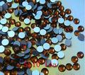 1440 pc/bag SS10 2.7-2.8mm Marrom Chá Não HotFix Natator Pedrinhas, Vidro Glitter Glue-on Solto DIY Da Arte Do Prego Cristais Pedras