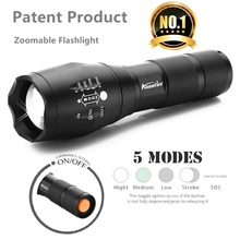 Ee.uu. e17/g700 tactical cree xml t6 4000lm led de la antorcha de zoomable led linterna antorcha de luz para aaa o 18650 batería recargable