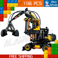 1166pcs Techinic New 2in1 Excavator Volvo EW160E L30G Loader 20023 DIY Figure Building Blocks Sets Toys Compatible With LegoING