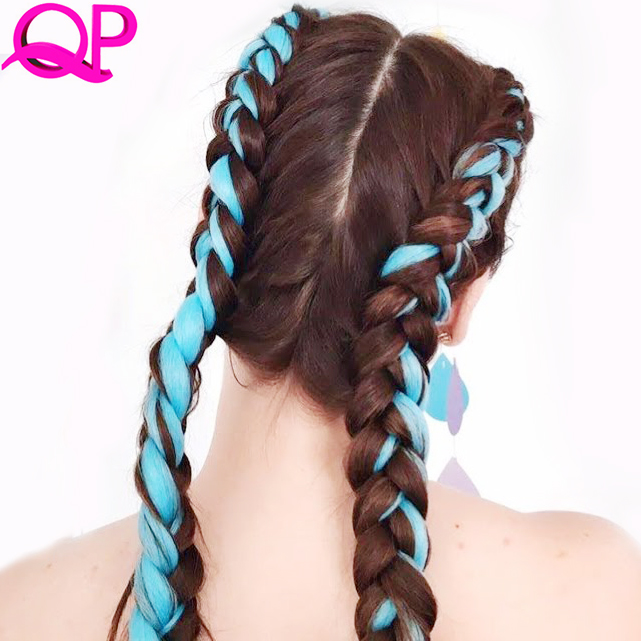 Hair Braids Qp Hair One Pcs Jumbo Braid Hair Crochet Handwork Hair Kanekalon Crochet Synthetic Braids For Braiding Hair Relieving Heat And Sunstroke