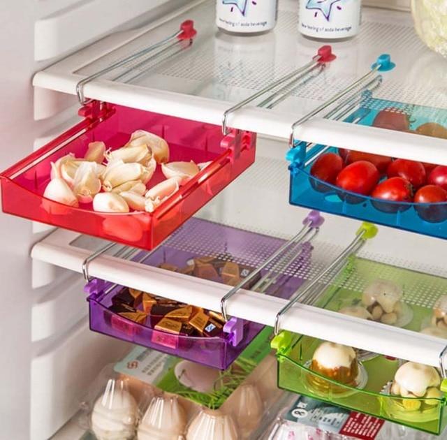 Smart Slide Fridge Freezer Refrigerator Shelf Rack Holder Space Saver Food Storage Versatile Kitchen Shelf & Smart Slide Fridge Freezer Refrigerator Shelf Rack Holder Space ...