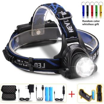 10000 Lumens Farol Farol LED T6/L2/V6 Zoomable Recarregável Lâmpada LED Cabeça lâmpada Cabeça Da Tocha À Prova D' Água de Pesca caça Para