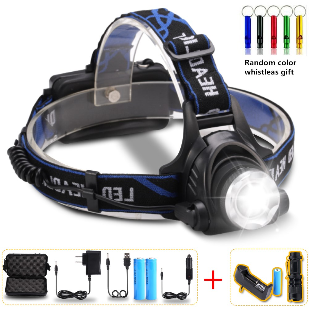 10000Lumens Headlight LED headlamp T6/L2/V6 Zoomable LED Lamp Rechargeable Waterproof Head Torch Head lamp Fishing Hunting For10000Lumens Headlight LED headlamp T6/L2/V6 Zoomable LED Lamp Rechargeable Waterproof Head Torch Head lamp Fishing Hunting For