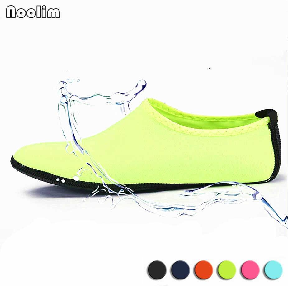 קיץ חדש Chaussure Femme נשים נעלי מים אקווה כפכפים החוף להחליק על פארק מים סנדלי Sandalias Mujer