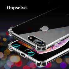 Oppselve Shockproof Case For iPhone XS Max XR X 8 7 6 6S Plus Ultra Slim Soft TPU Silicone Cover Coque Funda