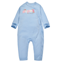 Y352 Autumn New Baby Cotton Long Sleeved Romper Open Buckle Oblique Leotard Climbing Clothes I Love