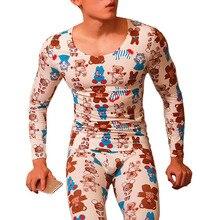 Thermal underwear for men invisible set calzoncillos hombre compressio
