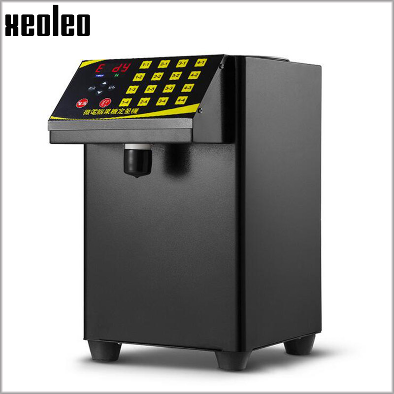 XEOLEO Bubble tea Sugar Dispenser 9L Fructose Quantitative machine16 Grid Automatic Fructose machine Syrup dispenser 1 1 9l