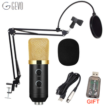 GEVO MK F100TL Condenser Microphone For Computer Professional Wired Studio Karaoke USB Mic PC With NB 35 Holder And Pop Filter
