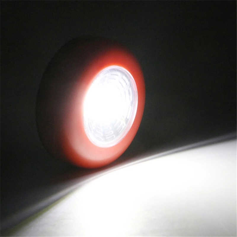 3W COB Touch Light Round LED Under Cabinet Light Wall Lamp Wardrobe Cupboard Closet Light Emergency Kitchen Night Light For Home