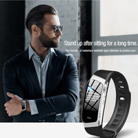 E18 New Design Men Bluetooth Waterproof Wristband Information Reminds IP67 Class Health Monitoring Smart Watch 15J Drop Shipping