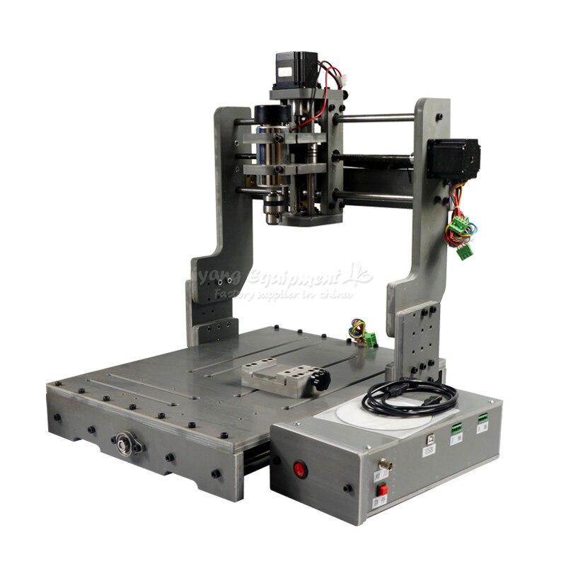 DIY mini cnc milling machine 3040 LPT USB port cnc router for wood glass so on
