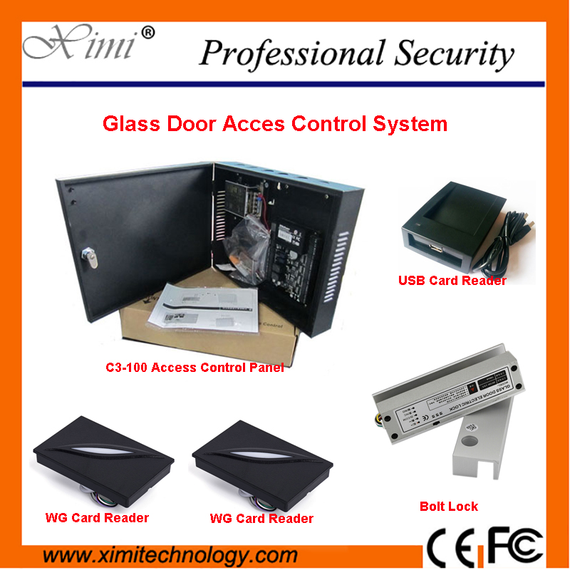 ZKTech C3 Access Control System Professional One Door TCP/IP RFID Card Door Access Controller With Electric Lock Card And Reader