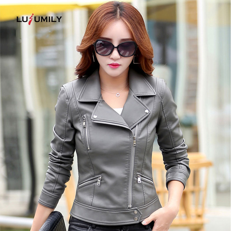 Lusumily Leather Jacket Women Jaqueta De Couro Female Jacket Coat Autumn Winter Fashion Plus Size 5xl